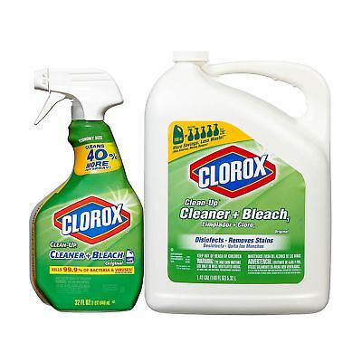 Clorox Clean Up Bleach Cleaner (32oz Spray Bottle & 180oz Refill) Free shipping!