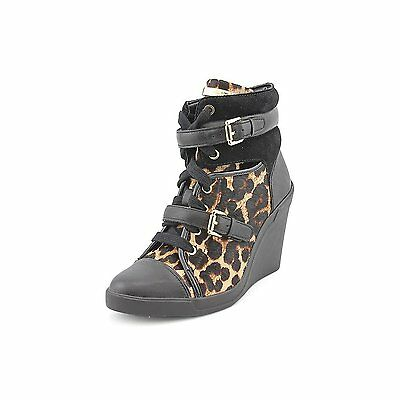 Michael Kors Skid Wedge Womens Size 7 Cheetah Natural Sneakers Shoes