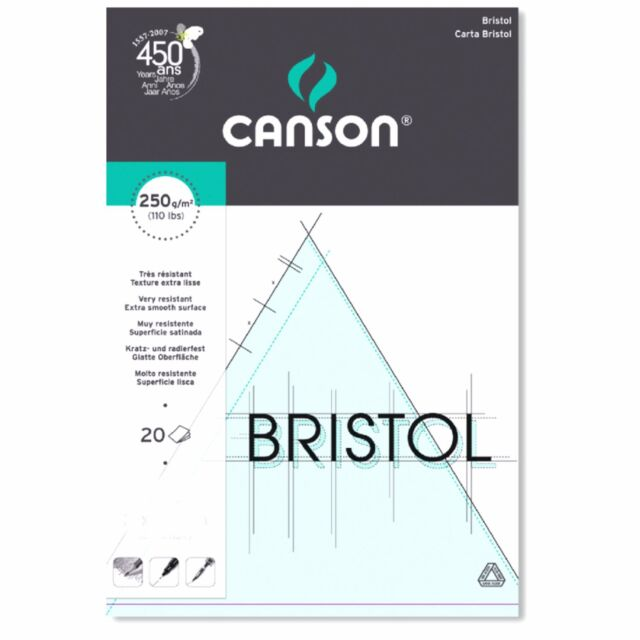 Canson Bristol Board Smooth Card Pads. Artists Drawing Illustration Paper Pad.