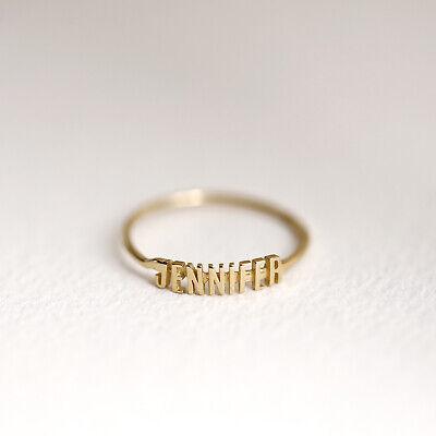 Monogram Ring, Gold Name Ring, Name Band, 10K 14K Solid Gold Personalized Ring 10k Personalized Name Ring