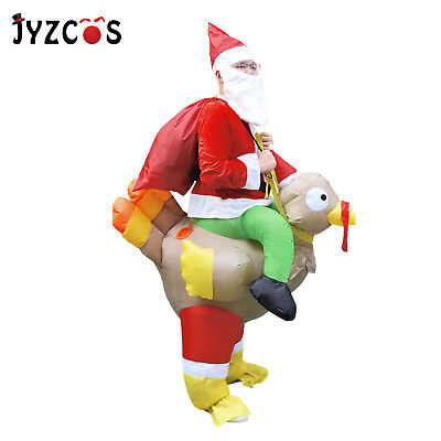 Inflatable Costume Santa Claus Riding Turkey Adult Christmas Dress Cosplay Party](Inflatable Christmas Turkey Costume)