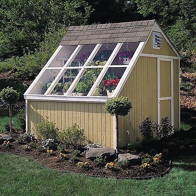 NEW HQ 10 x 8 Dual Greenhouse & Storage Solar Shed Garden House, Wooden Floor