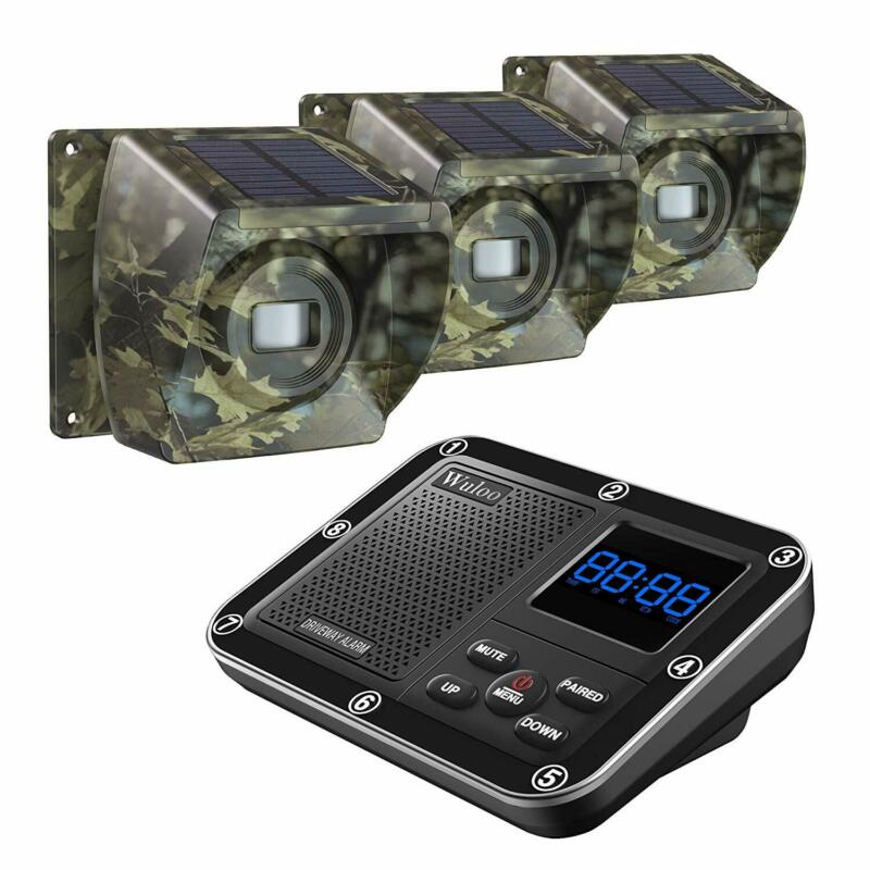 Home Security Solar Driveway Alarm System Wireless 500M Long Range Motion Sensor