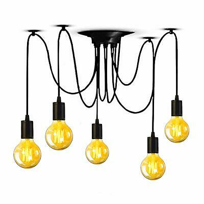Ceiling Spider Pendant Light Chandelier Industrial Lamp Adjustable DIY 5 Arms -
