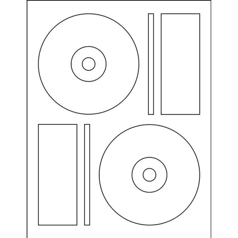 memorex cd case inserts template