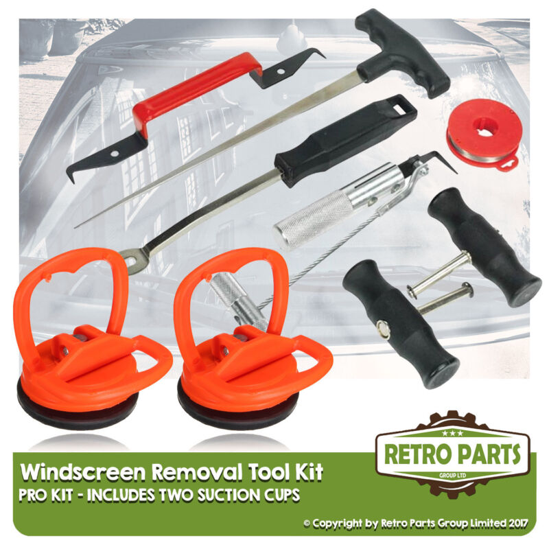 Windscreen Glass Removal Tool Kit for Lexus. Suction Cups Shield
