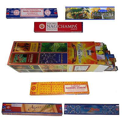 Räucherstäbchen Sortiment 25 Duftnoten + 6 Schachteln beliebter Nag Champa Düfte - Beliebter Duft