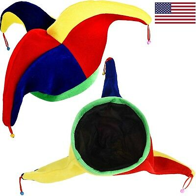 Jester Clown Hats Mardi Gras Hat Multicolor Costume for Halloween Dress Costume ()