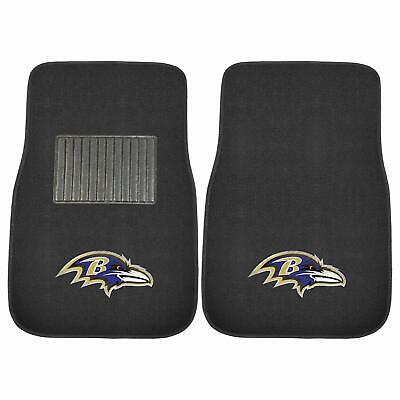 Baltimore Ravens 2 Piece Embroidered Car Auto Floor Mats. GREAT QUALITY!!!