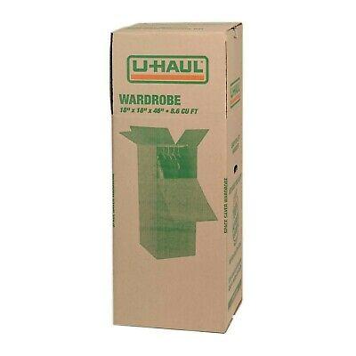 Uhaul Tall Moving Box Wardrobe Storage Heavy Duty 18x18x46 Double Corrugated