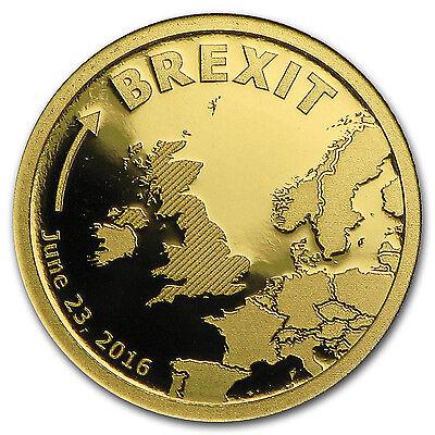 2016 Cook Islands 1 2 Gram Gold Brexit Proof   Sku  102381