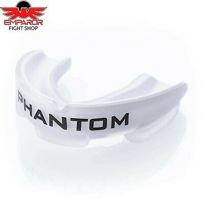 Phantom Athletics Zahnschutz Impact Weiß Mundschutz + Box Boxen Muay Thai MMA