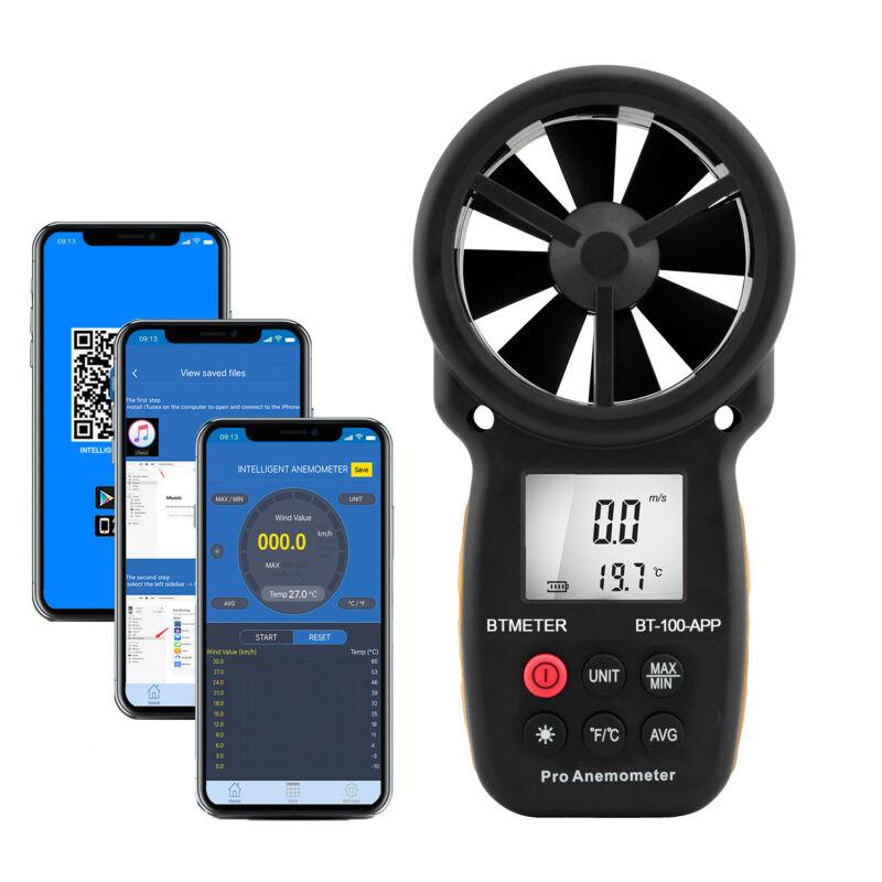 US Digital Anemometer Air Flow Meter Handheld Wind Speed Gauge Measure Tool port