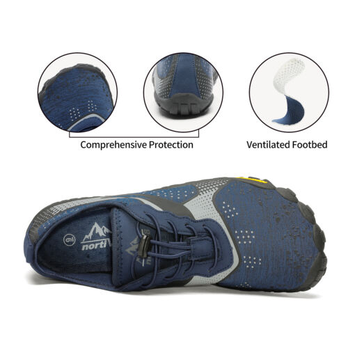 NORTIV8 Mens Water Shoes Quick Dry Barefoot Swim Diving Surf Aqua Sport Vacation 2