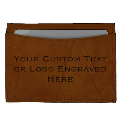 Custom Engravable Personalized Gift Leather Wallet Credit Card Holder