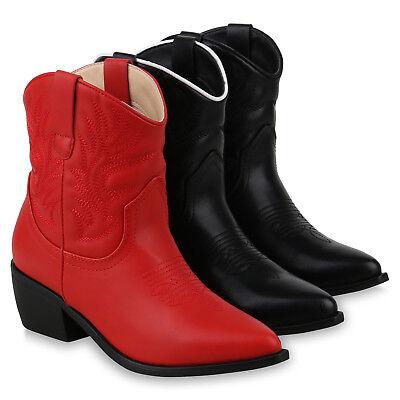 Damen Schuh Stiefel Western (Damen Stiefeletten Cowboy Boots Western Stickereien Stiefel 825612 Schuhe)