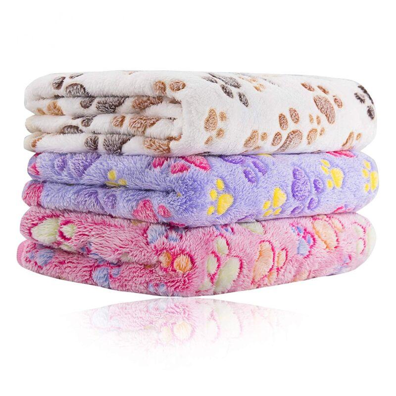 47x31 inch Super Soft Fluffy Fleece Pet Blanket for Large/Puppy Dog Cat Bed Mat