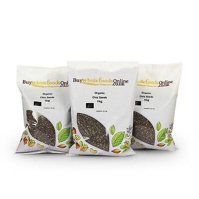 Organic Chia Seeds 3kg   Buy Whole Foods Online   Free UK P&P