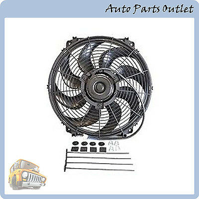 "16"" Universal Slim Pull/Push 1500CFM Radiator Cooling Fan Mounting Kit"