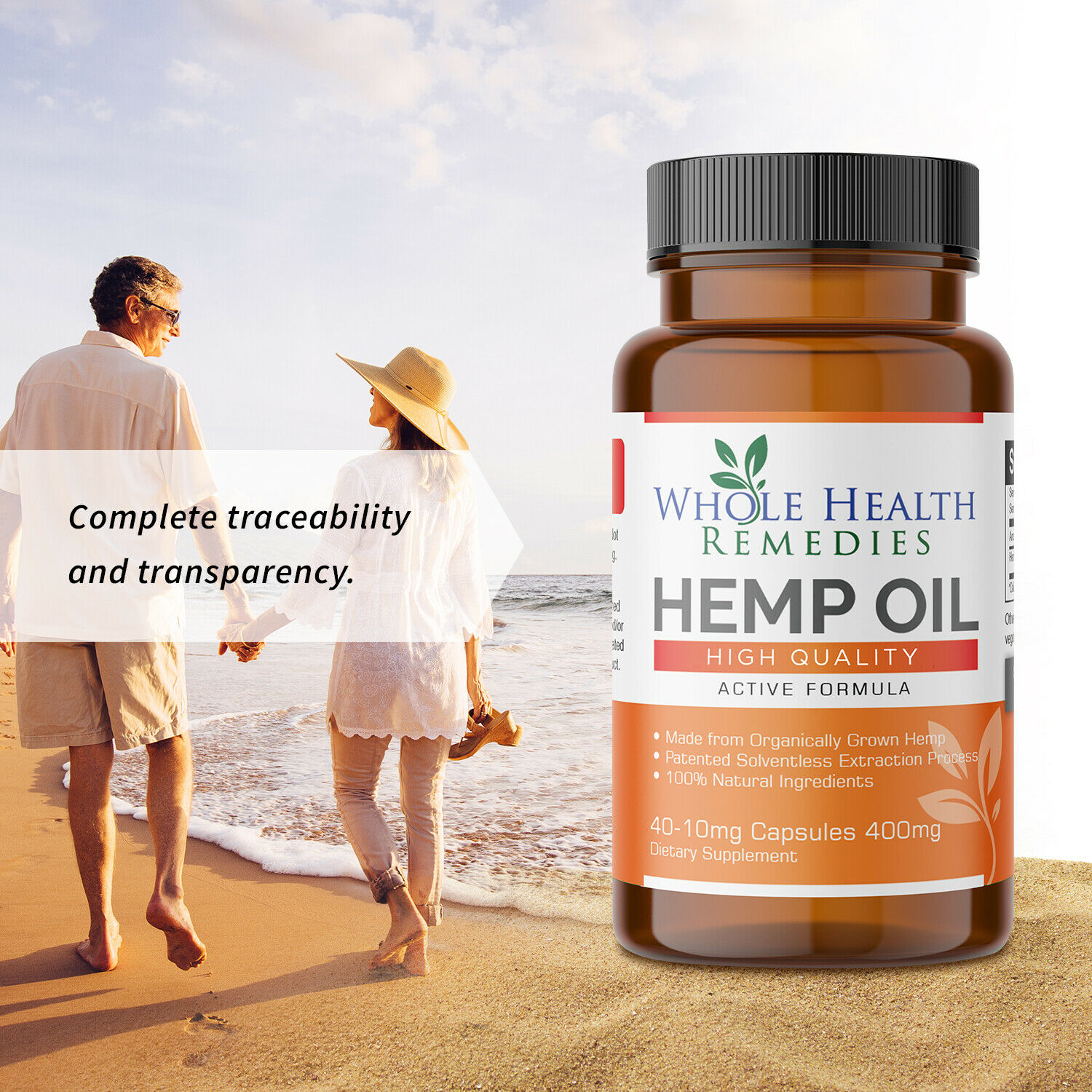 100% Pure Hemp Oil Capsules for Sleep-Aid, Anxiety & Pain Relief & Stress Relief 4