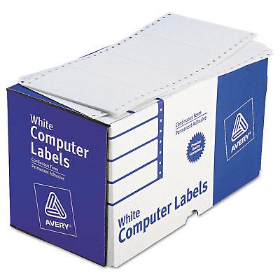 Avery Dot Matrix Printer Shipping Labels 1 Across 2 1516 X 5 White 3000box