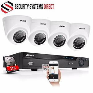 8 CH 1080P HD POE CCTV SYSTEM WITH 4 X 2 MP CAMERAS & 1 TB HDD Maitland Maitland Area Preview