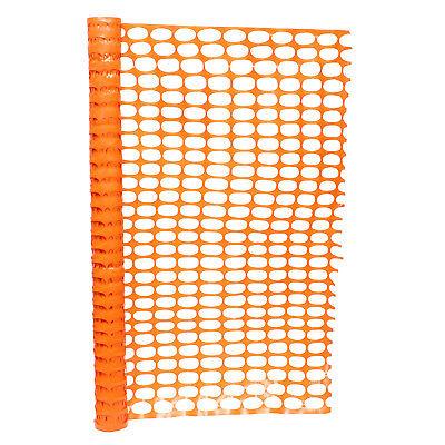 BISupply | 4 FT Safety Fence – 50 FT Plastic Fencing Roll, Orange Fencing