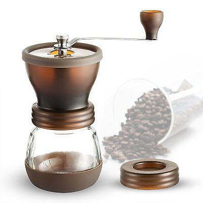 Handkaffeemühle mit Keramikmahlwerk Kaffeemühl Kaffeebohne Mühle Kaffeemaschine