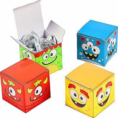 German Trendseller® - 12 bunte Monster Boxen┃ Mitgebsel┃ Kindergeburtstag