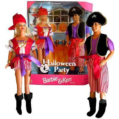 Barbie and Ken 1998 Mattel Halloween Party Pirate Dolls Gift Set ](Nude Halloween Parties)