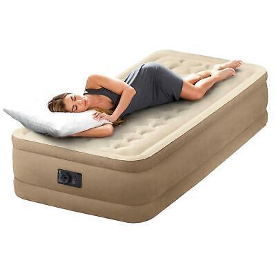 Intex Luftbett mit Pumpe Single Gästebett Matratze selbstaufblasend 191x99x46cm