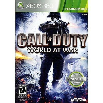Call Of Duty  World At War   Platinum Hits Xbox 360  Brand New