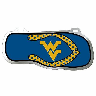 WVU West Virginia Mountaineers Flip Flop License Plate / Tag