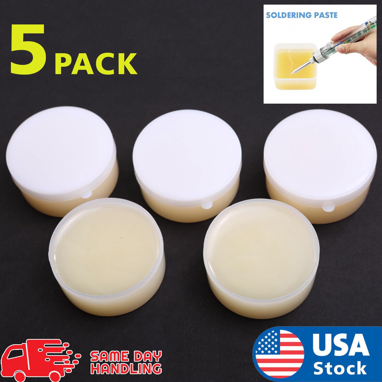 5pack Smooth Rosin Soldering Flux Paste Solder 50g Welding Grease Gram USA Business & Industrial
