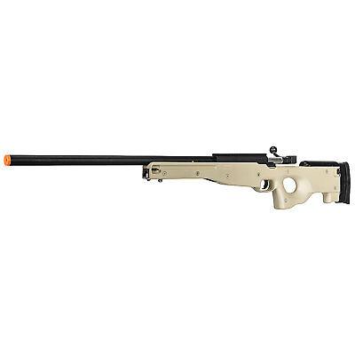BBTac Airsoft Sniper Rifle Gun MB01 Tan L96 AWP Spring Bolt Action Metal 6mm BBs for sale  Alhambra