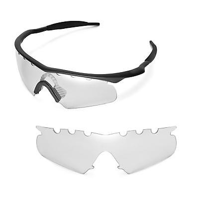 78680f76fb91 New Walleva Clear Vented Replacement Lenses for Oakley M Frame Hybrid  Sunglasses