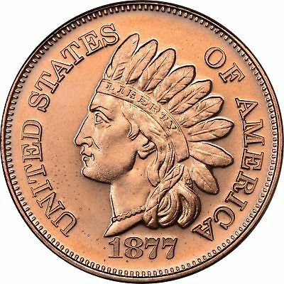 1 oz Copper Round - 1877 Indian Head
