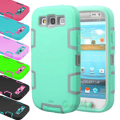 Hybrid Rubber ShockProof Protective Hard Case Cover For Samsung Galaxy S3 i9300 - Samsung S3 Case