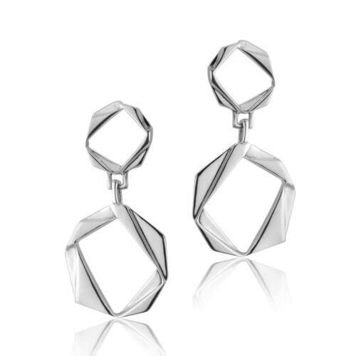 Solid Sterling Silver Double Drop Earrings