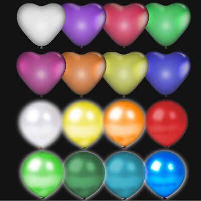 LED Luftballons - Geburtstag Hochzeit Deko Party JGA Ballon Leuchtende Herz Rund