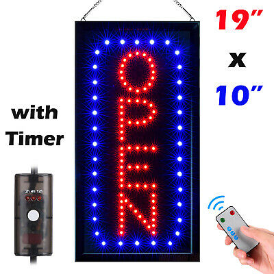 Ultra Bright Flashing Led Neon Business Open Sign Board Light With Onoff Switch