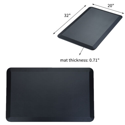 "Anti-Fatigue Comfort Floor Mat, Non-Slip Bottom Durable Kitchen Mat 3"" Black"