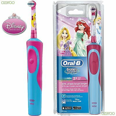 Oral-B Stages Power Vitality Princess Electric Rechargeable Toothbrush for Kids
