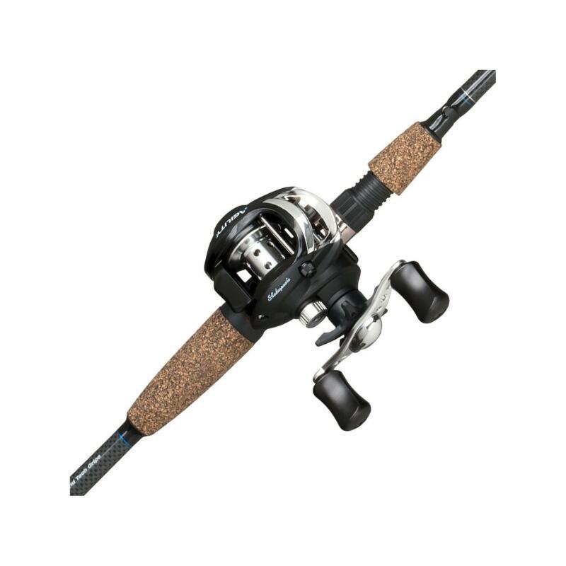 Shakespeare Agility Low Profile Baitcast Reel and Fishing Rod Combo Black NEW