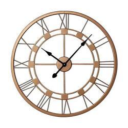 20 inch Copper Large Roman Wall Clock Handmade Wall Sculpture Art