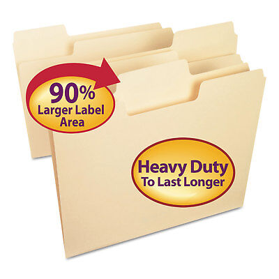 Smead Supertab Heavyweight Folder Manila 13 Cut Letter 50bx 10401