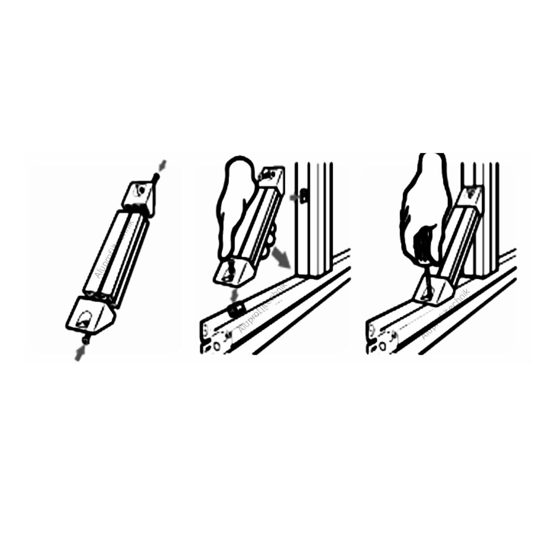 45 grad verbinder f r alu profil 40 nut 8 item raster nutprofil aluprofil eur 7 60. Black Bedroom Furniture Sets. Home Design Ideas