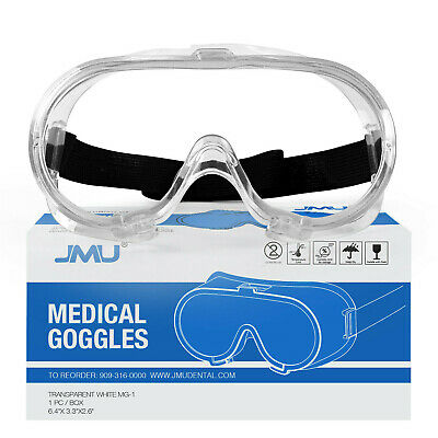 Safety Goggles Lab Work Eye Protective Eyewear Clear Lens Glasses