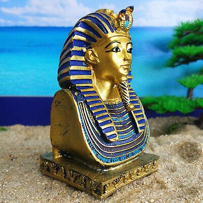 Pharaoh King Tut Tutankhamun Death Mask Statue Ancient Egypt Figurine Home Decor