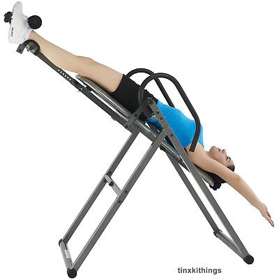 Back Pain Inversion Therapy Table Chair Posture Muscle Stretch Exercise Machine